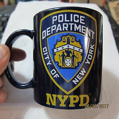 NYPD, New York City Police Department Shield / Badge, Blue Coffee Cup Mug