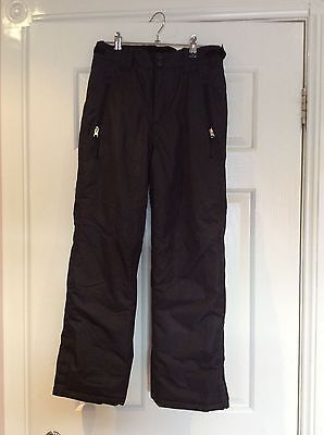 Kids Unisex Black Snow Pants -Size 10 - Excellent condition