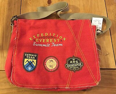 New Disney Parks Animal Kingdom Expedition Everest Summit Team RED Messenger Bag