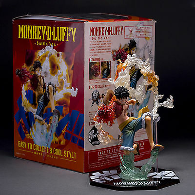 One Piece Anime Monkey D. Luffy Battle Version PVC Figure Loose Toy New With Box