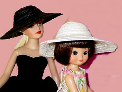 Great Black Picture Doll Hat For Tiny Kitty, Tiny Betsy, Tiny Ann Estelle Riley
