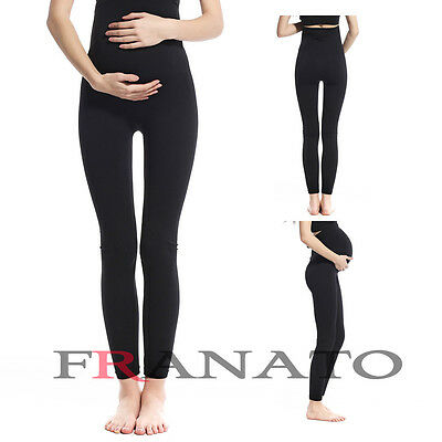Seamless High Waist Maternity Leggings Pregnancy Belly Support Pants Underwear