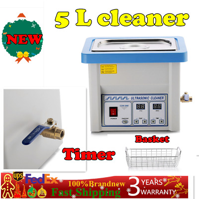 NEW Stainless Steel 3L Liter Industry Heated Ultrasonic Cleaner Heater W// Timer