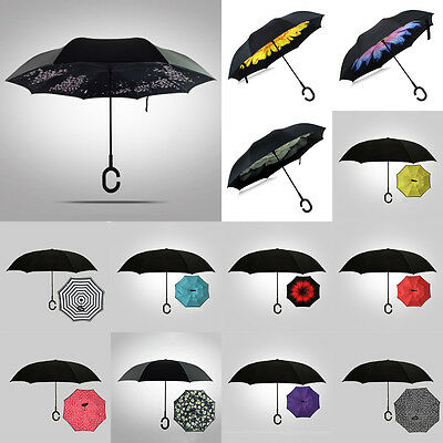 C-Handle New Better Brella Double Layer/Upside Down/Reverse Opening Umbrella