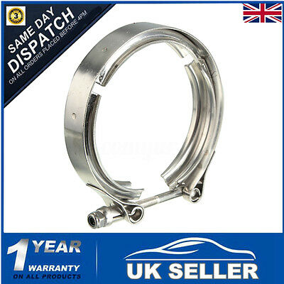 "Heavy Duty Stainless Steel 3"" Inch 76mm V Band Clamp Exhaust Turbo Fitting Kit"