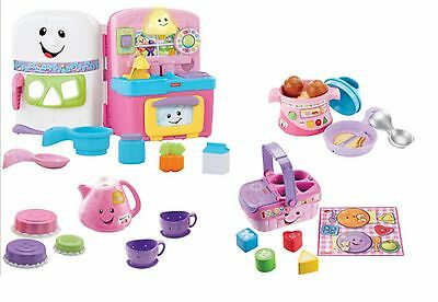 Fisher Price Kitchen Pretend Role Play Ages 2+ Girls Picnic Basket Tea Pot Cook
