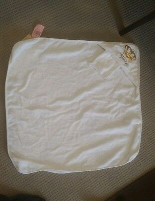 New baby Juicy Couture Gold and white hooded bath towel and mitt