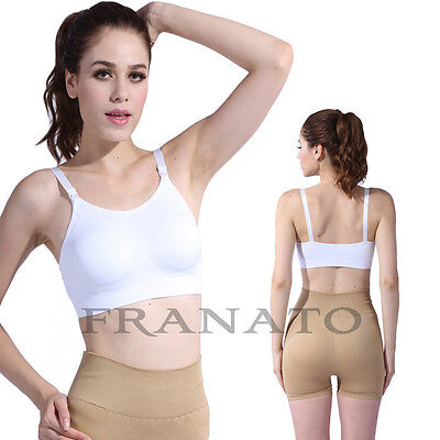 Womens Seamless Nursing Bras Wire Free Maternity Breastfeeding Pregnant Bras