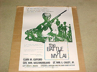 The Battle Of My Lai Anti-War Poster 1971 Scarce
