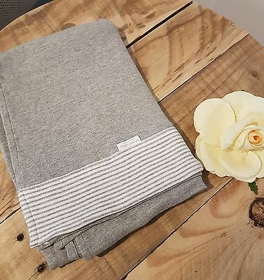PURE BABY Unisex Boy Girl Grey White Stretch Wrap Blanket Throw Swaddle Organic
