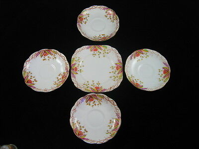 Rare Vintage Royal Albert Virginia Side Plates & 4 Saucers
