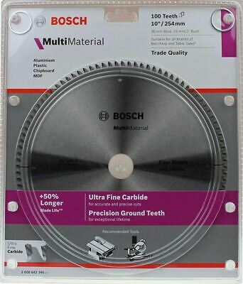 Bosch Aluminium & Multi Material Circular Saw Blade 254mm (10 Inch) 100 Teeth