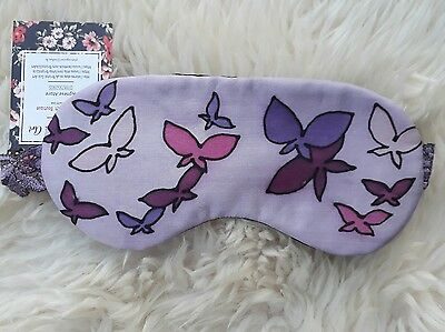 1 Pure Silk with Lavender Handmade Eye Sleep Mask Travel Relax Butterflies Gift