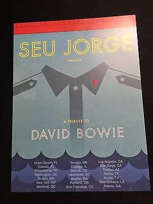 Seu Jorge Tribute To David Bowie Concert Poster