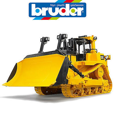 BRUDER LARGE 1:16 CATERPILLAR TRACK BULLDOZER w RIPPER SAND PIT MADE IN GERMANY