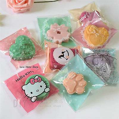 50/100pcs Colourful DIY Soap Cookies Candy Bakery Cello OPP Packing