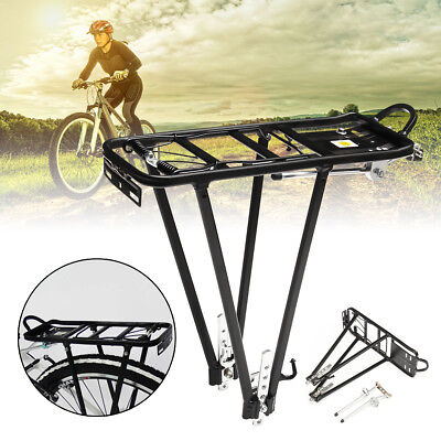 Aluminum Alloy Heavy Duty Bicycle Cycling Bike Rear Pannier Rack Luggage Carrier