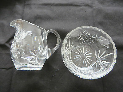 Bowl And Jug Deceased Estate Cut Glass, Could It Be Crystal,
