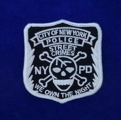 "NYPD Street Crimes Patch ""We own the Night"""