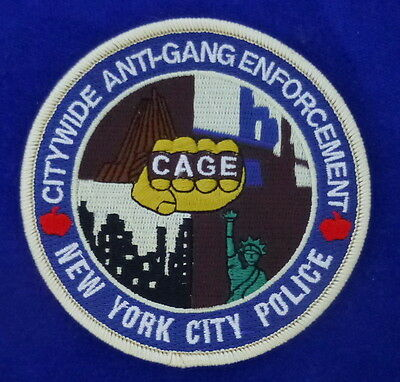 "NYPD Citywide Anti Gang Enforcement Patch ""C.A.G.E."""