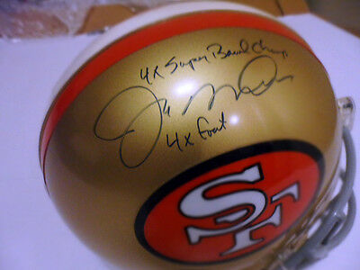 Joe Montana  Autographed Helmet F/s Pro Line Riddell The Only One  Of Kind Cert