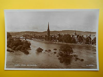 View from Bridgend PERTH Perthshire *Vintage* RP 1953 River Tay Church