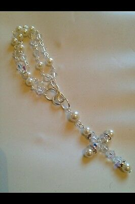 Swarovski Crystal Bridal Rosary With Pearls