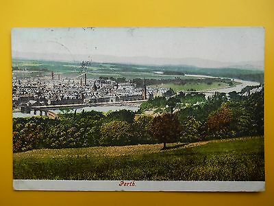 View of Town over River Tay PERTH Perthshire *Vintage* c1906