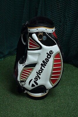 Taylormade Tp Tour Staff Bag / Black White / 6-Way Divider / Tagtou002