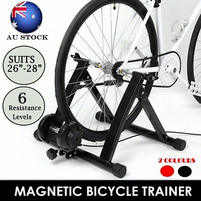 Magnetic Indoor Bicycle Bike Trainer Exercise Stand 6 levels of Resistance AUS