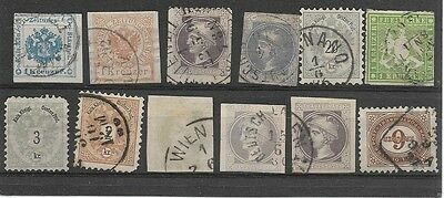 Collection of Early Austrian Stamps in Stock Card