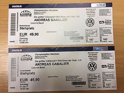 andreas gabalier m nchen 2 tickets stehplatz innenraum eur 105 00 picclick de. Black Bedroom Furniture Sets. Home Design Ideas