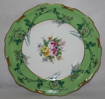 """Royal Crown Derby - Pattern 6645 - 9"""" Scroll Edge Cabinet Plate - 1902 - vgc"""