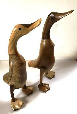 Job lot of 18 Bamboo Ducks For Decoration or Craft