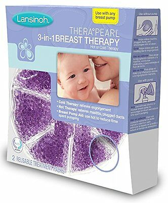 Lansinoh TheraPearl 3-in-1 Hot or Cold Breast Therapy 2 Count