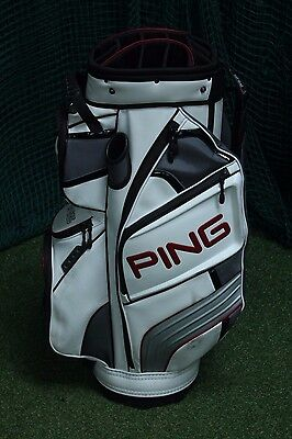 Ping Dlx Cart Bag / White Red / 14-Way Divider / Pigdlx002