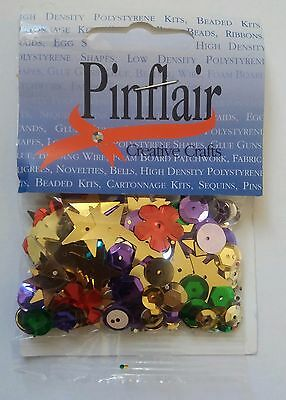 BNIP Pinflair Assorted Size & Shape Sequins. Stars, Circles, Cup, Flower. Craft