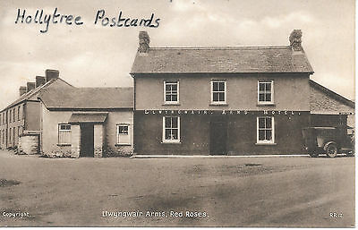 Llwyngwair Arms Red Roses Laugharne Whitland  with car Carmarthenshire