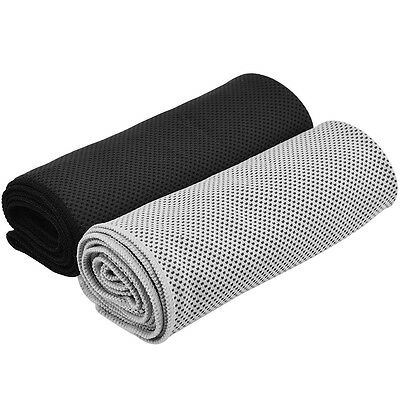 2* Instant Cooling Towel Sports Gym Towel Drying Sweat Absorb