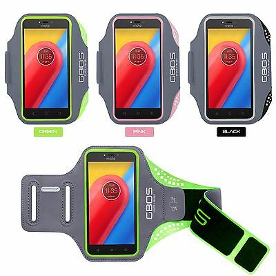 GBOS® Gym Sports Workout Armband For Motorola Moto C Running Jogging Exercise