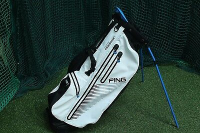Ping Hoofer Monsoon Waterproof Stand Bag / White / 5-Way Divider / Pigmon001