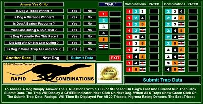 Rapid 3-Dog Combination Greyhound Forecast Racing System