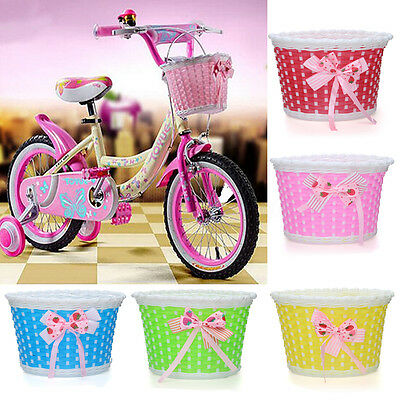 Bike Bicycle Cycle Shopping Front Basket Flowery Holders Stabilizers Carry -UK