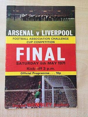 1971 FA Cup Final Programme Arsenal v Liverpool