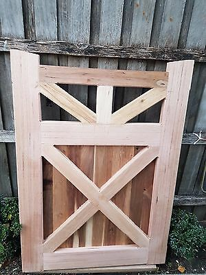 Picket Timber Wooden Fence GATE 1400 x 1000mm KD Ash VICTORIAN COLONIAL GATES