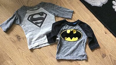 boys 3-6 months tops long sleeved next batman and superman