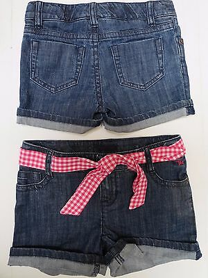 Girls shorts jeans denim  designer 5 6 7 8 9 10 11 12 13 14 years NEW