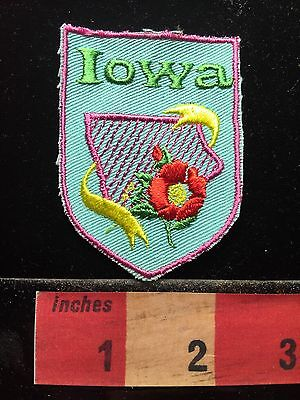 Vtg Iowa State Flower (Rosa Arkansana) Souvenir Patch Emblem Collectible 68U9