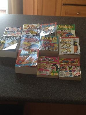 Lot Of 7 Jumbo Size Archie Comics