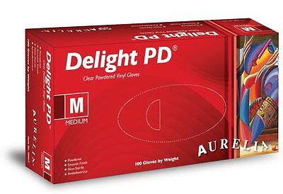 100 x Aurelia Series Vinyl Delight Non Sterile Disposable Gloves - Large